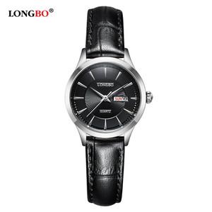 2020 Longbo Luxo relógio de quartzo Moda Casual Couro Relógios Pulseira Homens Mulheres assistir Casal Sports analógico relógio de pulso Erkek saatler 5021
