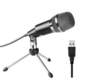 USB Microfone plug jogo Home Studio USB microfone condensador para Skype Recordings para YouTube Google Voice Search Jogos Windows Mac