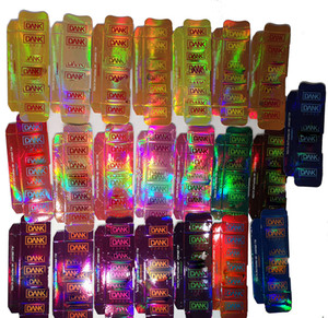 Hologramme Dank Vape Emballage de cartouche E Cigarettes Réservoirs Vape côté fenêtre boîte vide Vape Pen huile Atomiseur Pen Emballage de cartouche Vaporizer