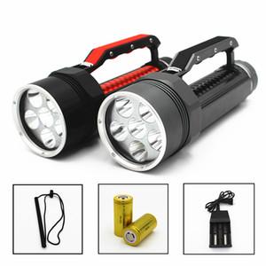 Meşaleler Dalış Işık 6 x L2 7200LM El Feneri Su Geçirmez Lamba Scuba Dalgıç Sualtı 100m Iş Torch Piller ile