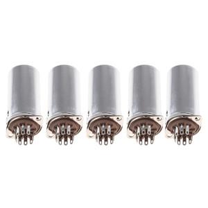 5x 9Pin Vakuum-Röhrenfassung W / Aluminium für 12AX7