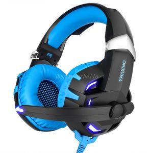 ONIKUMA K2 casque filaire gaming 7.1 lumière avec ordinateur de jeu bluetooth gaming gaming mode casque deux canaux stéréo