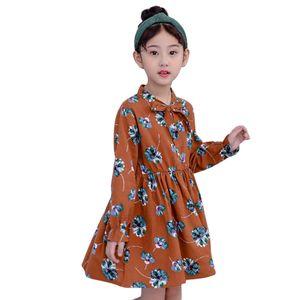 Motivo floreale Abiti Primavera Autunno Party Dress Teenage Bambini Vestiti Ragazze 6 8 10 12 13 14 Anno J190514