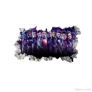 Black Panther Black Widows Vingadores 3D Decalque Da Parede de Vinil Autoadesivo Adesivo de Super Herói Adesivo para Sala de estar e Sala de Meninos