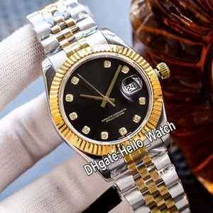 Luxe New m126333-0006 ETA2824 Montre automatique Mens Black Diamond cadran saphir deux tons d'or en acier Bracelet Montres Hello_Watch 7 Couleur