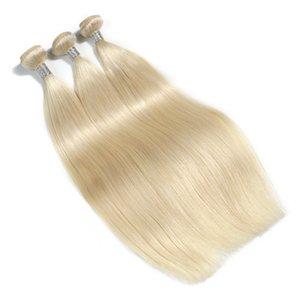 Der neue Stil von Platin 100% Malaysia Human Hair Extensions 10-30 Zoll unverarbeitetes gerade Haar bündelt Remy-Haarweberei
