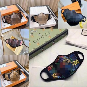 S M Have With Packing Box L & V Mask Cool Fashion Paris Show Luxury Designer Face Masks Anti-Dust Masks Cloth+Leather Printing Daily Mask