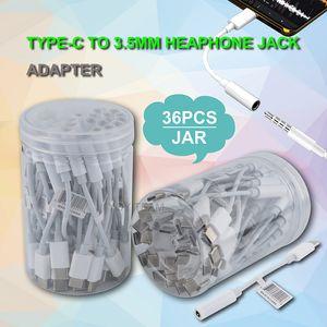 тип c до 3,5 мм разъем для наушников адаптер поддержка музыки и телефонных голосовых вызовов с пластиковой банкой upc 3,5 мм aux кабель женский адаптер передачи данных