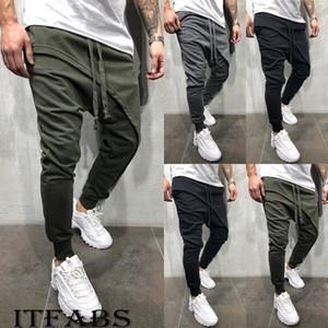 New Trend Men Casual Pants Long Trousers Tracksuit Fit Workout Joggers Sweatpants Hip Hop Pants M-3XL