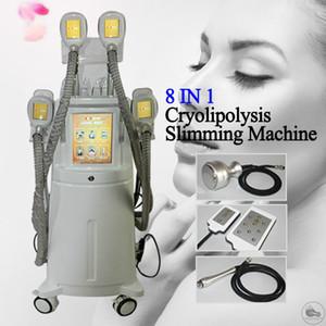 2020 Cryolipolysis Fett Einfrieren Maschine reduzieren Doppelkinn Cryo 4 Hand- und Winkelstücke zusammenarbeiten Cryolipolysis Vacuum Abnehmen Kolben-Lifting