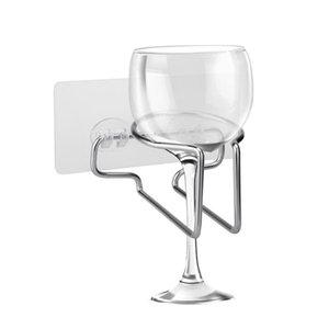 Copa del baño de ducha Holder Copa Vino soporte para bebidas titulares de almacenamiento en rack estantes latas de baño # 3d17