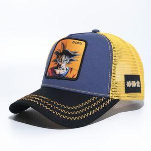 DRACNBALL Dragon Ball Z Goku Jump Baseball Cap Trucker Snapback Hat Adjustable Goku Kakarotto Majin Buu Cosplay Series Embroidered Caps