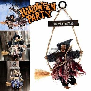 Fontes do partido de halloween arranjo de halloween festival bar fantasma decoração horror assustador pendurado fantasma voando bruxa pingente