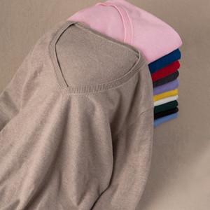 Gaberly Soft Cashmere Sleeers Elásticos e Pulhas para Mulheres Outono Camisola de Inverno V-Neck Feminino Jumper 5XL Malha Marca Tops Sh190914