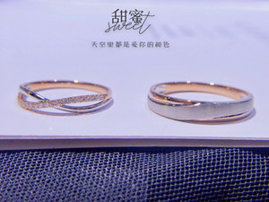Custom Factory 18K white and Rose gold combinations couple rings Natural diamond engagement rings for couple rings wholesale certificate