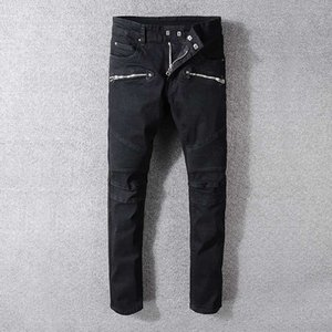 2019 new straight mens jeans fashion designer denim trousers retro sexy ripped personality ripped jeans