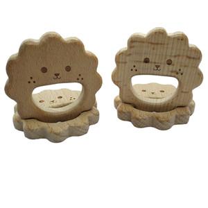4pcs Natural de madeira Teether Bee pingente Beech presente Orgânica Madeira Stroller Toy para Newborn Baby Teether Food Grade DIY Baby Teething Jóias