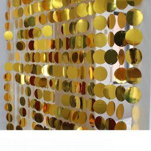 Фестиваль праздничные принадлежности ПВХ блестки занавес интерьерные декоративные шторы DIY свадебные принадлежности левый и правый двухпартийный открытый новый