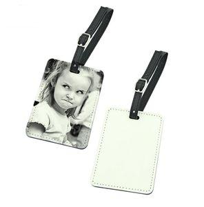 20 adet Süblimasyon Boş PU Bagaj Etiketi Bavul Etiketi Seyahat Rastgele Renk boyutu 10.1 * 7.1 cm