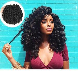 18 pouces Ombre Marley Tresses Cheveux Crochet Afro Crépus Synthétique Tressage Cheveux Crochet Tresses Extensions de cheveux en vrac noir brun