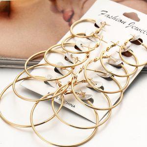 Kaya Artırımı Kulak Çember 6 Kağıt Seti Kulak Tırnak Suit Kişilik Küpe Grubu birleştirin