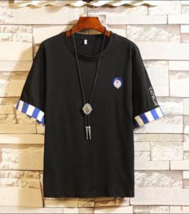 Lusso C0py Carton Style Mens T-shirt di moda di marca del ricamo Top progettista del Mens camice a maniche corte Mens M-4XL ZY-TT1103