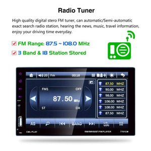 7701 HD Digital 6.6 Inch Touch Screen Car Multimedia Player Support Mobile Phone Interconnection Hands-free Call