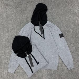 Hommes Femmes Pulls Designer Sweats à capuche de luxe solide design Casaul Sweat à capuche chaud épais tricot Sweats à capuche Pull gris B103458L