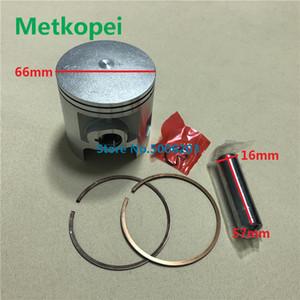 moto peças DTMX 175 DT175 diâmetro do pistão de montagem do anel de pistão 66 milímetros pino 16 milímetros para 2 tempos