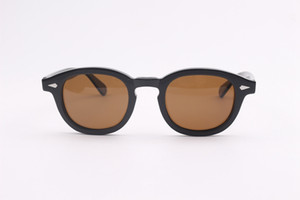 Hochwertige Johnny Depp Sonnenbrille Acetate Frame Männer Frau Markendesigner Polarisierte Sonnenbrille Driving Shades With Box