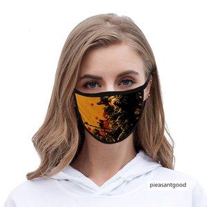 Halloween 3d digital printing Ice Silk cloth men's and women's life mask