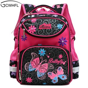 GCWHFL Backpacks For School Girls School Bags Floral Children Schoolbag For Primary Girl Mochila Good Quality Kids Bag