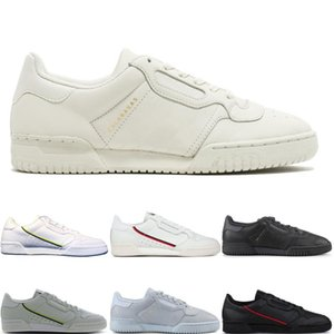 New Fashion Calabasas Powerphase Designer Continental 80 Casual shoes Kanye West Aero blue Core black OG white Men women des chaussures