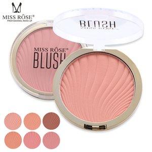 MISS ROSE Professional 6 цветов Blush Контур палитры тени персикового макияж лица Mineral Пигмент румяна Blush