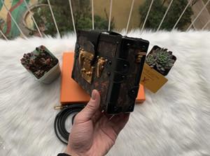 2020 Оптовая дизайнерская коробка оригинальный petite malle сумки вечерние сумки кожа мода коробка сцепления кирпич сумка посыльного 43596