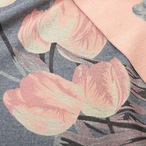Gros- Automne et Hiver New Réchauffez Femmes Wrap épais Double Châle Fashion Designer Tulip Flower Scarf