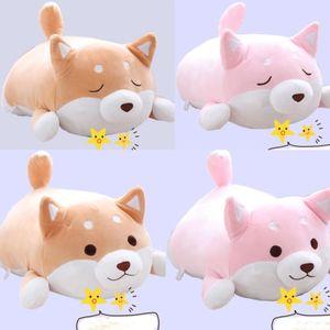 Anime Shiba Inu 개 부드러운 플러시 베개 쿠션 동물 애완 동물 인형 박제 장난감 선물
