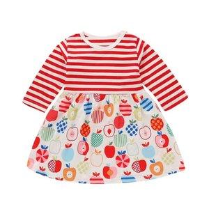 Children's fruit stripe clothes Cute Korean version wild clothes children's wear Creative design Best gift for kids
