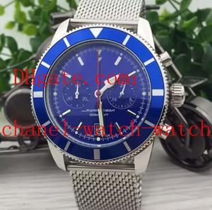 Mode wathces 4 Farbe Superocean Heritage 42 mm A23370 Quartz Chronograph Herren-Armbanduhr-Edelstahl-Männer Sportuhren