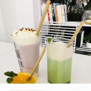 20cm Organic Bamboo Drinking Straw Party Birthday Wedding Biodegradable Reusable Eco-friendly Wood Straws Kitchen Bar Tools VT1723
