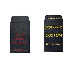 Shatter Конверты пользовательского логотипа Этикетки Пусто Edibles Упаковка на заказ Полноцветная печать Золото / серебряная фольга Logo Shatter разменной монетой Конверт