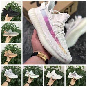 Novo 350 V2 estática argila Sesame verdadeira forma Hyperspace Homens Mulheres Running Shoes Kanye West Beluga 2,0 esportes Laranja Bred Sneakers tamanho 7-13
