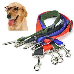 Asiento del perrito del perro del coche al aire libre de la correa de perro de coches para mascotas asiento de seguridad para mascotas desplazamiento de la cinta ajustable arnés de sujección Correas Clip plomo del cinturón de seguridad BH2839 TQQ