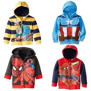 Hot Spider-man per bambini ragazzi delle parti superiori Hoodie incappucciato del cappotto del rivestimento Felpa Età 1-6Y