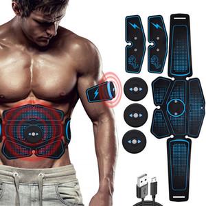 3 1 개 복부 근육 자극기 트레이너 EMS ABS 바디 휘트니스 벨트 피트니스 장비 훈련 기어 운동 팔 다리 토너