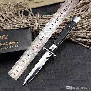 Üst düzey 9 inç yılan tane ahşap İtalyan tarzı katlama bıçak çift eylem Otomatik bıçak EDC cebi Taktik Oto bıçaklar