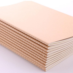 Kraft Cover Drawing Sketchbook and Notebook Classic Notebook w / Blank Cover Plain Sketch Paper Kraft Brown Soft Cover-A4 (290 * 210MM)