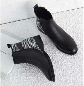 dames de la mode automne hiver bottes roman 19SS design cuir bottines femmes patch chaussures martin femmes bottes de cow-boy Zapatos mujers