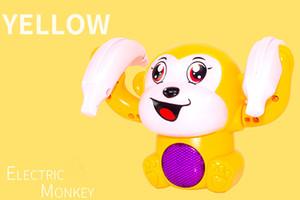 Детская электрическая игрушка акробатика маленькая обезьяна легкая музыка мальчик девочка ребенок головоломки 1-2-3 год старый голосовой версии