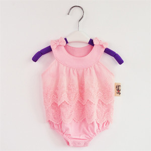 Cotton Lace Baby Girl Bodysuit New born Onesie Summer Baby Girl Body Bodysuits Twins Baby Clothes First Birthday Clothing